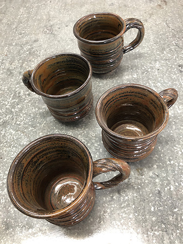 Set of Four Cups by Tom Venner